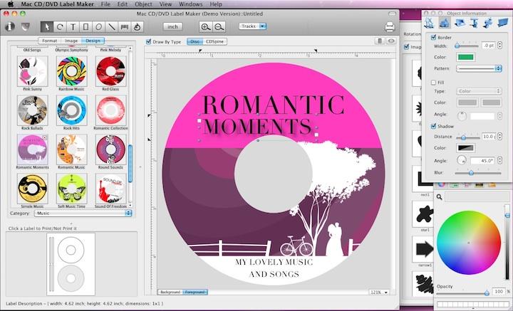 Cristallight Software Mac Cd Dvd Label Maker And Disc Cover Design Software