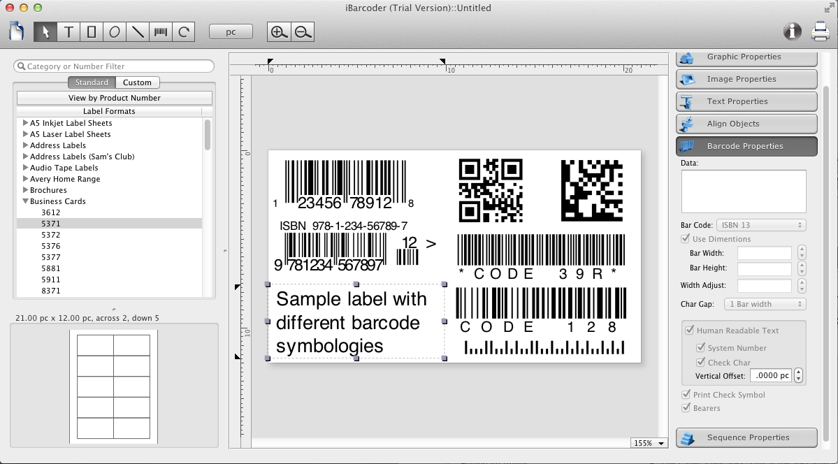 iBarcoder for Mac OS X full screenshot