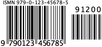 Mac ISMN barcode picture