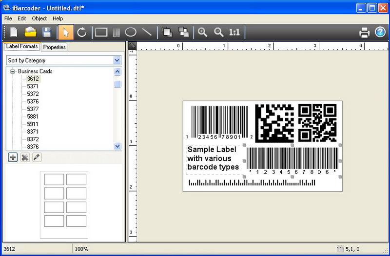 Barcode application for Windows image